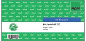 Kurzbrief A4 quer 100BL SIGEL KF213 1/3 A4q Produktbild