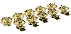 Christbaumkerzenhalter gold 10010 D15 mm 10ST m.Klipp Produktbild