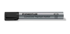 Flipchartmarker Lumocolor 2mm schwarz STAEDTLER 356-9 nachfüllbar Rundspitze Produktbild