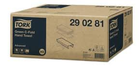 Falthandtuch 2560ST 2-lagig grün TORK 290281 C-Falz Sys.H3 Produktbild