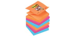 Haftnotizblock 76x76mm 90Bl Electr POST-IT R33006SE 6Bk Z-Notes Produktbild