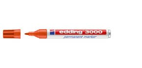 Permanentmarker 3000 1,5-3mm orange EDDING 3000-006 Rundspitze nachfüllbar Produktbild