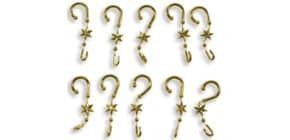 Kugelaufhänger m.Stern gold 14383 1BT 20ST Produktbild