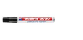 Permanentmarker 3000 1,5-3mm schwarz EDDING 3000-001 Rundspitze nachfüllbar Produktbild