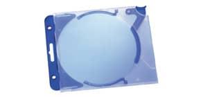 CD Leerhülle Quick Flip blau 5 Stück DURABLE 5269 06 m. Abheftclip Produktbild
