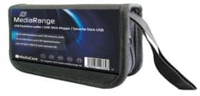 Speicherkarte Tasche schwarz MEDIARANGE BOX99 10USB/6SD Produktbild