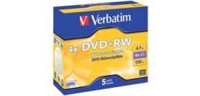 DVD+RW 5erPack VERBATIM 43229 4.7GB/120M Produktbild