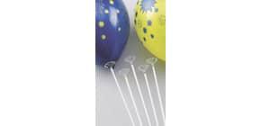 Luftballonstab weiß 91013 Kunststoff Produktbild