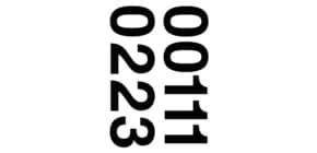 Zahlenetikett 0-9 Folie schwarz 18 Stück HERMA 4189 33 mm wetterfest Produktbild