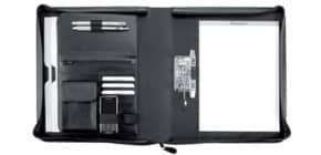 Schreibmappe Lederimit schwarz ALASSIO 31506 Bergamo Produktbild