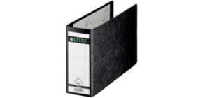Ordner Pappe A5 quer schwarz LEITZ 10760000 80mm ohne Griffloch Produktbild