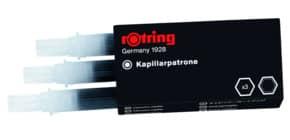 Tuschepatrone 3 Stück schwarz ROTRING S0194640 R590517 Produktbild