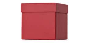 Geschenkkarton dunkelrot 51 7842 96 / 52 7842 99 10x10x10cm Produktbild