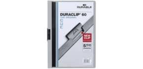 Klemmmappe Duraclip A4 grau DURABLE 2209 10, 60 Blatt Produktbild