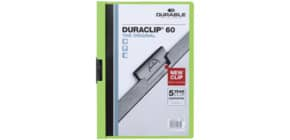 Klemmmappe Duraclip A4 grün DURABLE 2209 05, 60 Blatt Produktbild