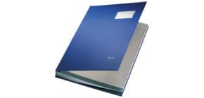 Unterschriftsmappe 20 Fächer blau LEITZ 57000035 Plastik kaschiert Produktbild