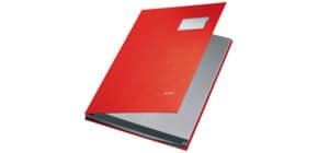 Unterschriftsmappe 10 Fächer rot LEITZ 5701-00-25 PP Produktbild