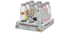 Trinkflasche 400ml Glas Happy Zoo LA VIDA 540670 3fach sort. Für dich Produktbild