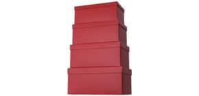 Geschenkkarton dunkelrot 52 7842 22 4tlg Hoch Produktbild