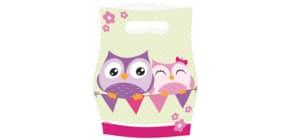 Geschenktüte 8ST HAPPY OWL 998349 Produktbild