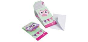 Einladung Kinder 8ST HAPPY OWL 998351 Produktbild