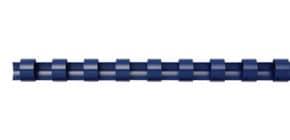 Spiralbinderücken 100ST blau Q-CONNECT 5345506 8mm Produktbild