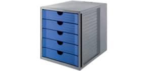 Schubladenbox Karma grau/blau HAN 14508-16 Produktbild