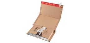 Versandkarton CDs/DVDs braun COLOMPAC 30000217 Produktbild