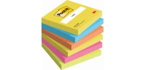 Haftnotizblock 76x76mm Active POST-IT 654TFEN 100Bl 6St Produktbild
