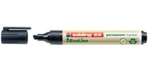 Permanentmarker 22 EcoLine 1-5mm sw EDDING 22001 Keilspitze nachfüllbar Produktbild