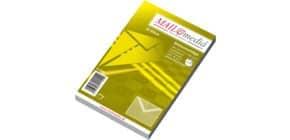 Briefhülle C6 nassklebend 80g weiß ELEPA 30002355, Seidenfutter, 25 Stück Produktbild