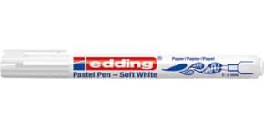 Faserschreiber 1-3mm weiß EDDING 4-1500049 Soft Pastel Pen Produktbild