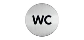 Hinweisschild WC DURABLE 4907 23 D83mm Produktbild