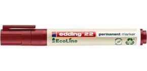 Permanentmarker 22 EcoLine 1-5mm rot EDDING 22002 Keilspitze nachfüllbar Produktbild