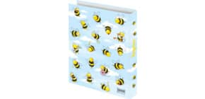 Zeugnisringbuch A4 Crazy Bees RNK 46495 4Ringe Produktbild