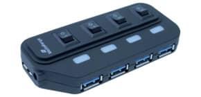 USB-Hub 3.0 1:4 weiß/sw MEDIARANGE MRCS505 Produktbild