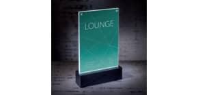 Tischaufsteller LED f. A5 glaskl/sw SIGEL TA422 luminous Produktbild