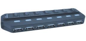 USB-Hub 2.0 1:7 schwarz MEDIARANGE MRCS504 Produktbild