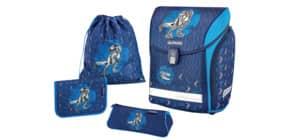 Schulranzenset 4tlg. Blue Dino blau HERLITZ 50013739 Midi Plus Produktbild