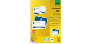 Visitenkarte A4 100 Stück beids. weiß SIGEL LP850 3C 225g 10 Blatt Produktbild