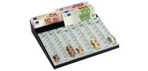 MünzGeldzählbrett EURO hgrau WEDO 160 790037 3Fäch.+8Münzr. Produktbild