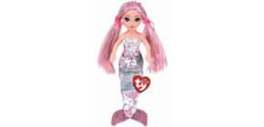 Plüschfigur Meerjungfrau Cora pink TY 02100 15cm Pailetten Produktbild