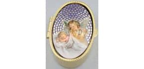 Rosenkranzdose Engel oval 61-219 Produktbild