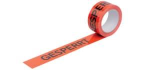 Warndruckband 50mmx66m orange/schwarz WIHEDÜ 400.084 Gesperrt Produktbild