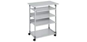 Computertisch mobil grau DURABLE 3720 10 TROLLEY 75 Produktbild
