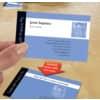 Visitenkarte weiß 80 Kart. Fotoqualität ZWECKFORM C32015-10 85x54mm 260g Produktbild Anwendungsdarstellung 2 S