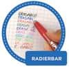 Tintenroller Frixion Ball 0,5mm blau PILOT BL-FR10-L 2258003 Produktbild Piktogramm 2 S