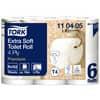 Toilettenpapier 4lagig weiß TORK 110405 150Bl. 6RL Produktbild